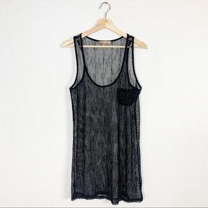 F21 Sparkly Fishnet Layering Dress Sheer Short M